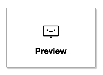 Preview button in the editor